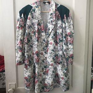 Vintage Positive Influence Floral Blazer Dress